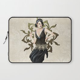 1920s Jazz Siren Laptop Sleeve