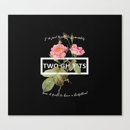 Harry Styles Two Ghosts graphic design Canvas Print