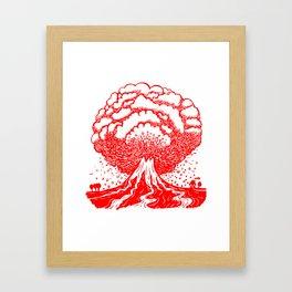 Volcano - Red Framed Art Print