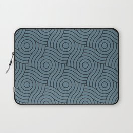 Circle Swirl Pattern Inspired by Behr Color of the Year 2019 Blueprint Blue S470-5 Laptop Sleeve
