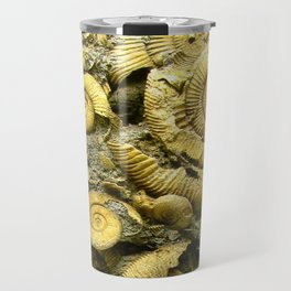 Fossils - Ammonite - Coiled Cephalopods  Travel Mug
