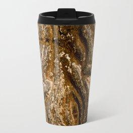 Abstract Brown Persian Carved Wood Art Print Travel Mug