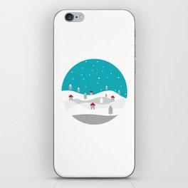 Xmas Winter White Christmas Scene, beautiful landscape winter iPhone Skin