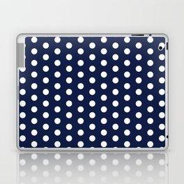 Navy Blue Polka Dots Minimal Laptop & iPad Skin