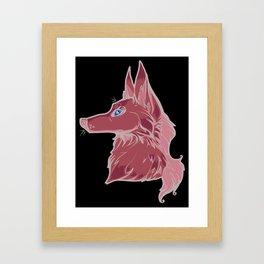 Green Wolf Framed Art Print