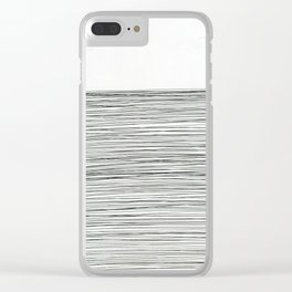 Water -minimalist line drawing Clear iPhone Case