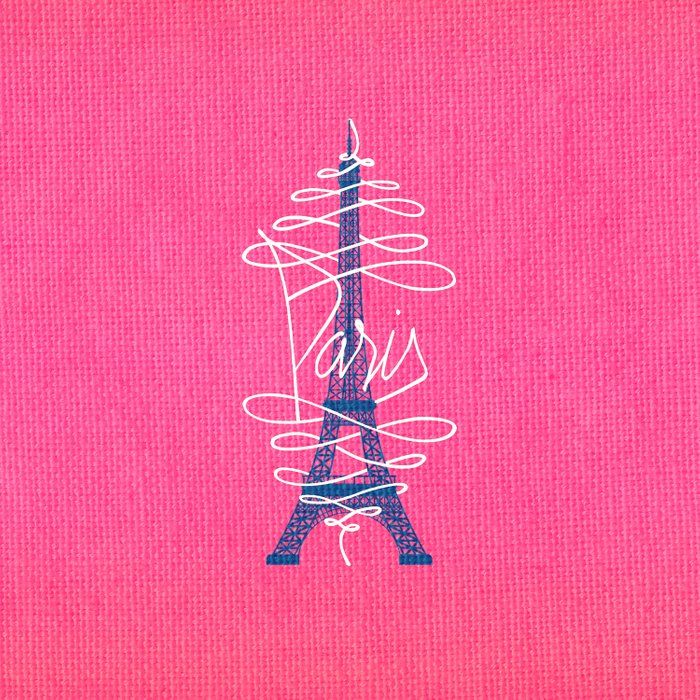 Girly Eiffel Tower Pink Whimsical Paris Typography Comforters