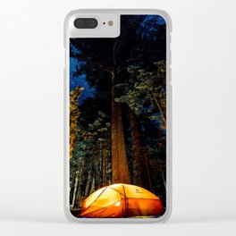 Camping At Night Clear iPhone Case