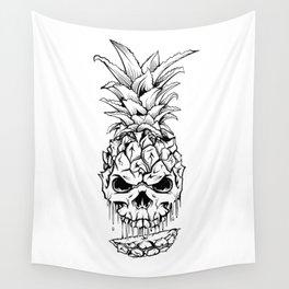 Skull Pineapple Fruit Wall Tapestry