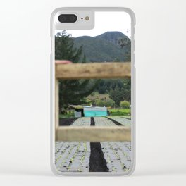 a life of frames and farms | lettuce grow Clear iPhone Case