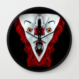 Creepy Clown 01215 Wall Clock