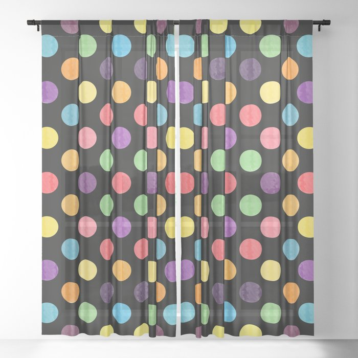 Lovely Dots Pattern Sheer Curtain