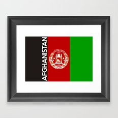 Afghanistan country flag name text Framed Art Print