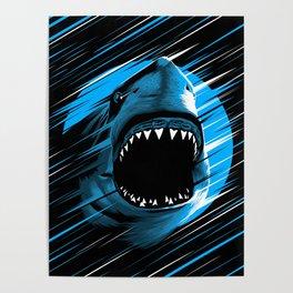 Shark Lines attack Poster