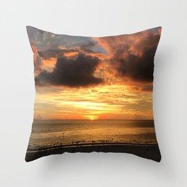 Clearwater Beach Sunset Throw Pillow