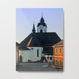 The village church of Vorderweissenbach | architectural photography Metal Print