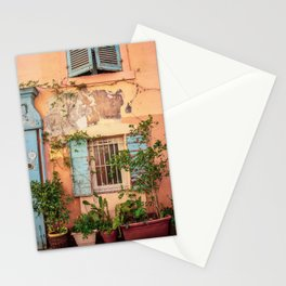 Rustic Wall in Marseille's Old Town Stationery Cards