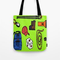 hiking Tote Bags featuring Hiking by Jonny Penn
