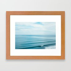 Pretty Waves Framed Art Print