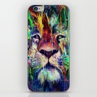 lion iPhone & iPod Skins featuring Lion by nicebleed