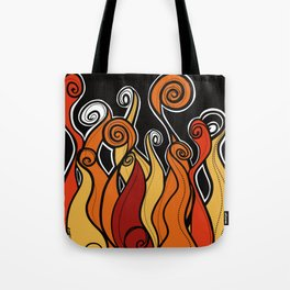 Flames on fire Tote Bag