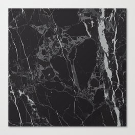 Black V Marble Canvas Print
