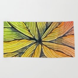 Doodled Aura-Leah Digitized Macro Beach Towel