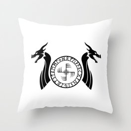 Norse Dragons - Ginfaxi Throw Pillow