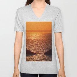 Orange Skies at Sunset Unisex V-Neck