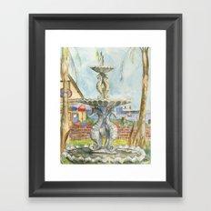 Sea-horse Fountain Framed Art Print