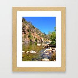 Kern River colorful Framed Art Print