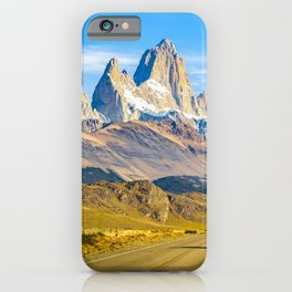 Snowy Andes Mountains, El Chalten, Argentina iPhone Case