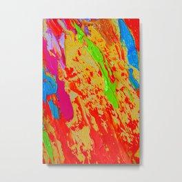 """""""Let The Paint Speak #3"""" Metal Print"""