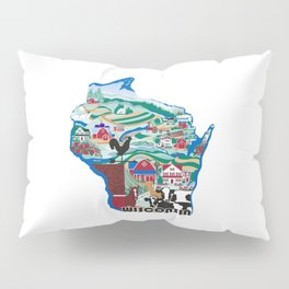 Wisconsin Country Sampler Pillow Sham