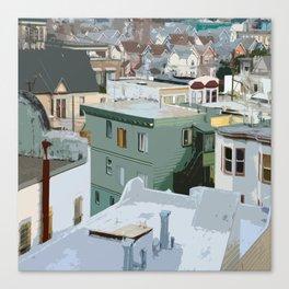 San Francisco Houses Canvas Print