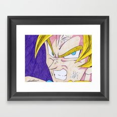 Goku DBZ Framed Art Print