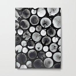 Black& White Wood Metal Print