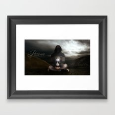 Patience: The Only Way to Survive... Framed Art Print