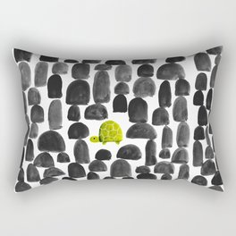 Turtle in Stone Garden Rectangular Pillow