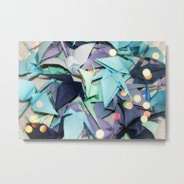 Senbazuru | shades of blue Metal Print