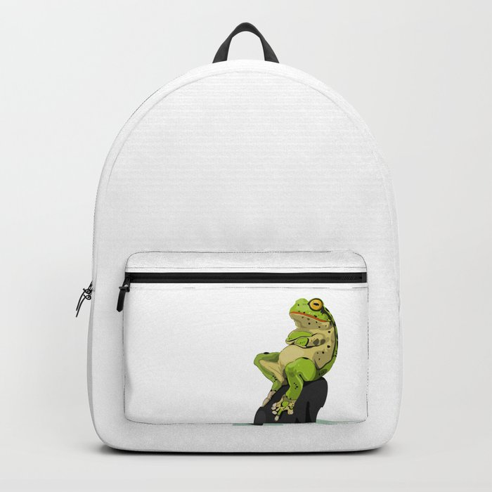 Relaxing Frog Backpack