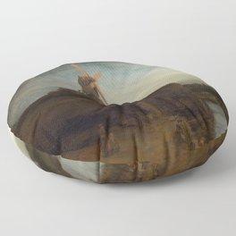 Rembrandt van Rijn - The Mill Floor Pillow