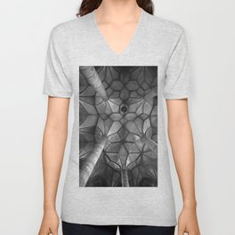 Looking Up - Mondesee Abbey, Salzburg Unisex V-Neck