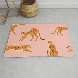 Cheetahs pattern on pink Rug