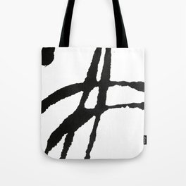 0523: a simple, bold, abstract piece in black and white by Alyssa Hamilton Art Tote Bag