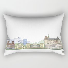 Oslo skyline colored Rectangular Pillow