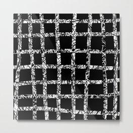 Tangled Grid Metal Print