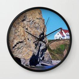 Cliffside Coastal Home Wall Clock
