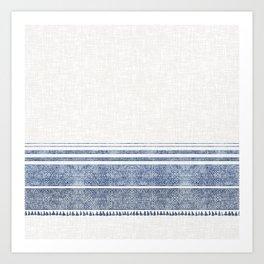 FRENCH LINEN CHAMBRAY TASSEL Art Print