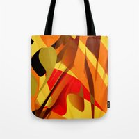 spice Tote Bags featuring pumpkin spice by David Mark Lane